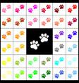 animal tracks sign  felt-pen 33 colorful vector image
