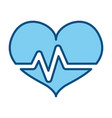 heart beating pictogram vector image