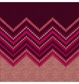 Knitted Seamless Fabric Pattern Beautiful Red Pink vector image vector image