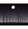 windmills for energy vector image vector image