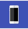 Modern White Smartphone Flat Icon vector image