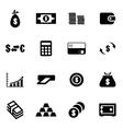 black money icon set vector image