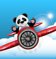 Panda on the plane vector
