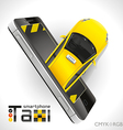 Taxi Smartphone vector image