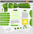 creative web design elements set green vector image vector image