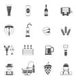 Beer Icons Black Set vector image
