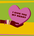 concept poster for valentines day and love idea of vector image