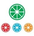 Fruits lemon sign Colorfull set vector image