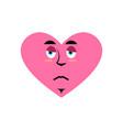 love sad emoji heart unhappy emotion isolated vector image