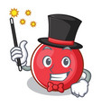 magician christmas ball character cartoon vector image