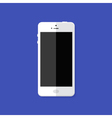 Modern White Smartphone Flat Icon vector image