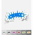 realistic design element bacterium vector image