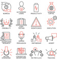 Set of icons related to business management - 11 vector image