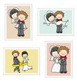 wedding Stamps vector image