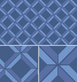 Blue Chevron vintage seamless pattern Vector Image