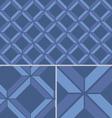 Blue Chevron vintage seamless pattern vector image vector image