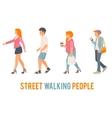 Street walking people vector image