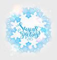 winter snow ornament vector image