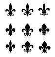 Collection of fleur de lis symbols vector image