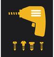 screwdriver design vector image