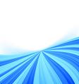Blue stream line border wave background vector image