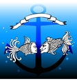 fishes with man and woman faces vector image