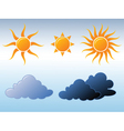 weather icons 02x vector image vector image