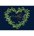 Wedding card design with lilies of the valley vector image