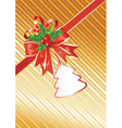 christmas background with gift tag vector image vector image