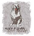 loyal friend vector image