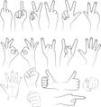 sketch of hands vector image vector image