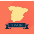 Flat icon with long shadow Spain map vector image