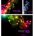 abstract business cards vector image