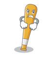 angry baseball bat character cartoon vector image