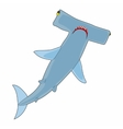 Hammerhead shark icon cartoon style vector image