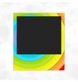 Polaroid photo frame rainbow vector image