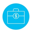 Suitcase with dollar symbol line icon vector image