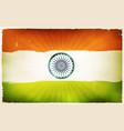 vintage india flag poster background vector image