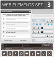 web elements set 3 vector image