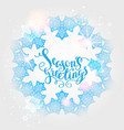 winter snow ornament vector image