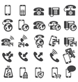 set of phone icons vector image