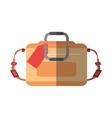 hand luggage travel bag tourist shadow vector image