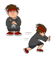 boy bully poses vector image
