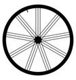 bike wheel - on white backgrou vector image vector image