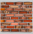 brown brick wall and brickwork vector image
