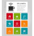 Info graphic company2 vector image