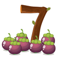 Seven eggplants vector image vector image