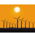 windmills to generate energy vector image