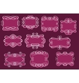 Vintage frames or cartouches set vector image vector image