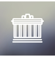 National Library thin line icon vector image